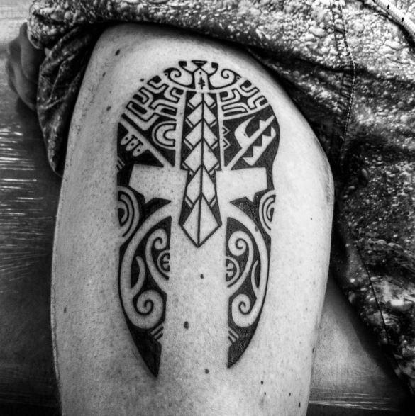 Greek Tattoo On Arm 35
