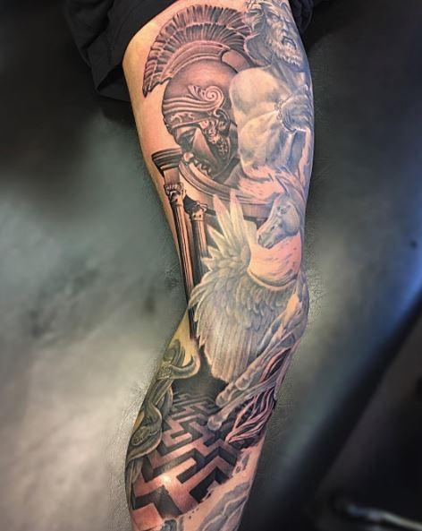 Greek Tattoo On Arm 38