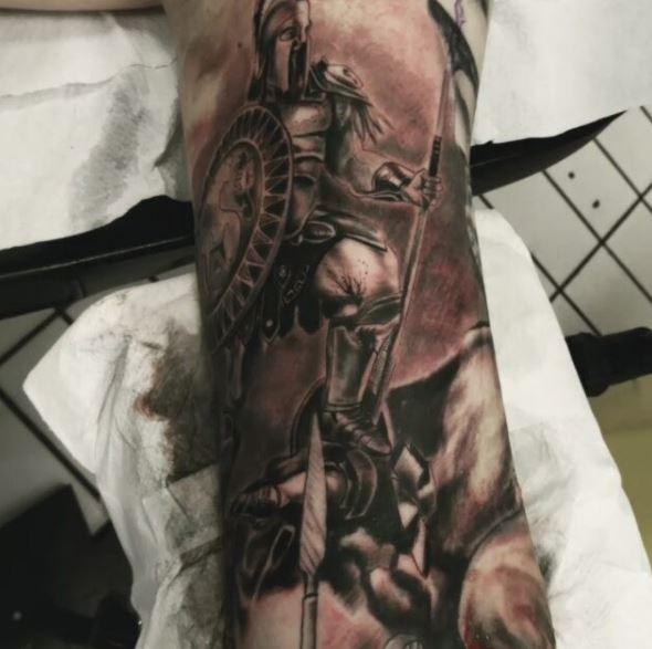 Greek Tattoo On Arm 42