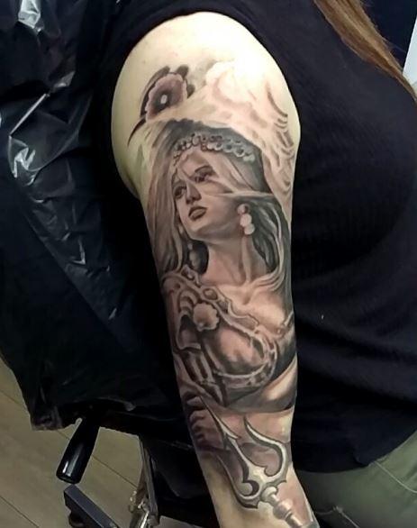 Greek Tattoo On Arm 44