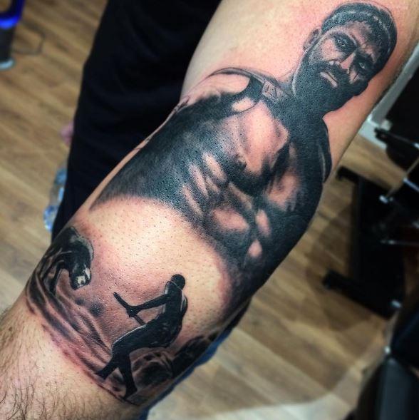 Greek Tattoo On Arm 46