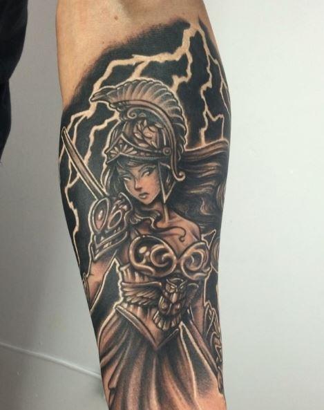 Greek Tattoo On Arm 48