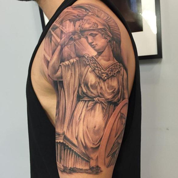 Greek Tattoo On Arm 49