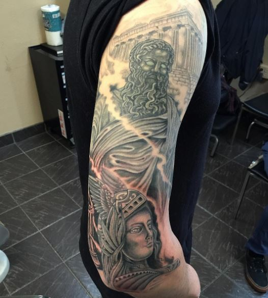 Greek Tattoo On Arm 50