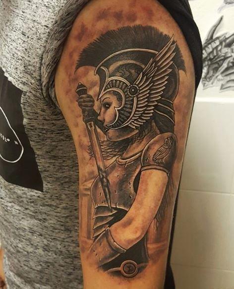 Greek Tattoo On Arm 7