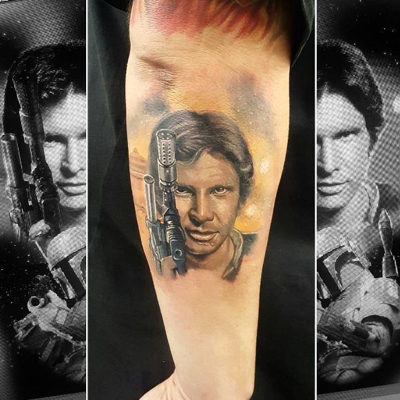 Han Solo Star Wars Tattoos Design