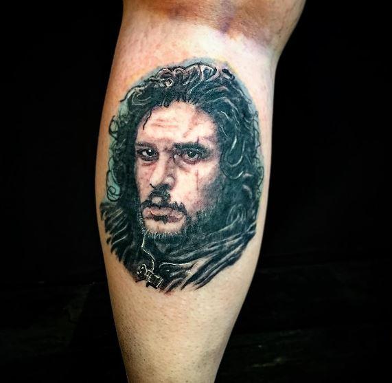 Jon Snurrrh Tattoos Design On Calf