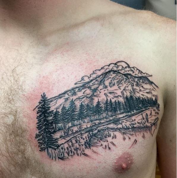 Landscape Tattoos Design For Boys
