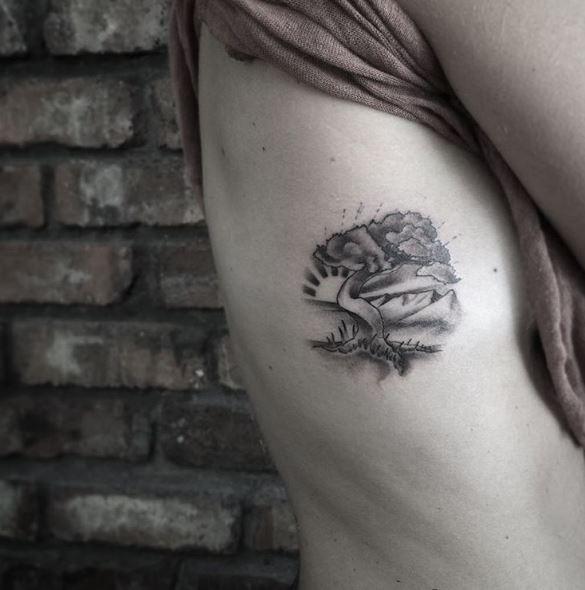 Landscape Tattoos Ideas For Women