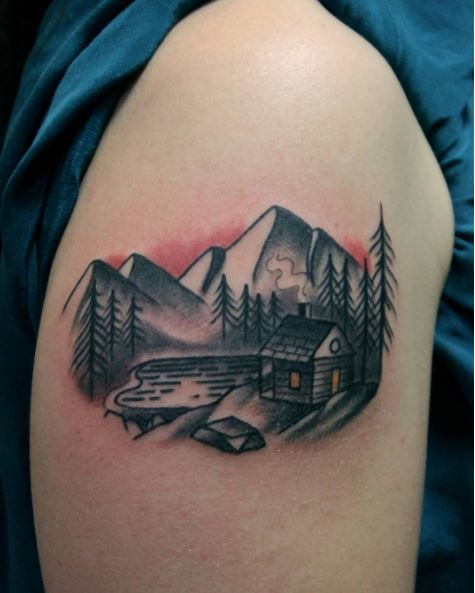 Little Landscape Tattoos Design And Ideas