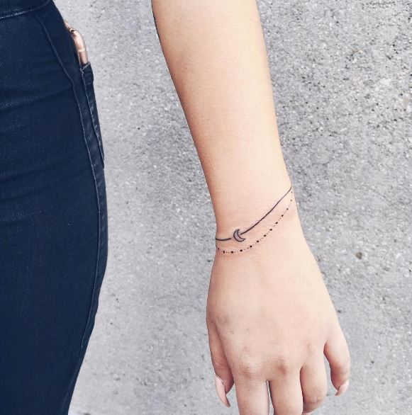 Moon Bracelet Tattoos Design And Ideas