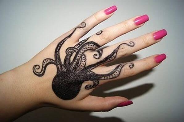 Octopus Tattoos On Hand