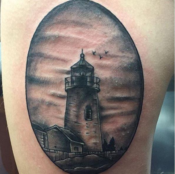 Orignal Landscape Tattoos Design On Hands