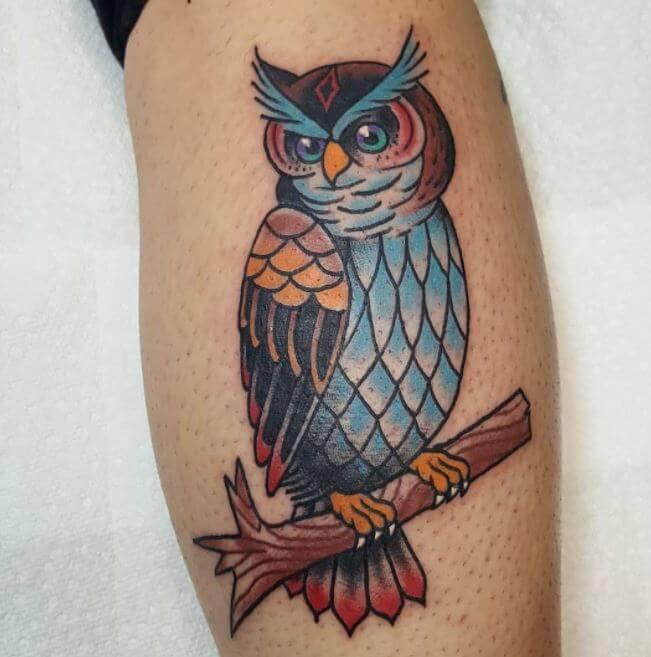 Owl Calf Tatoos