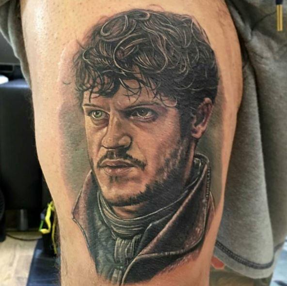 Ramsay Bolton Tattoos Design On Thigh