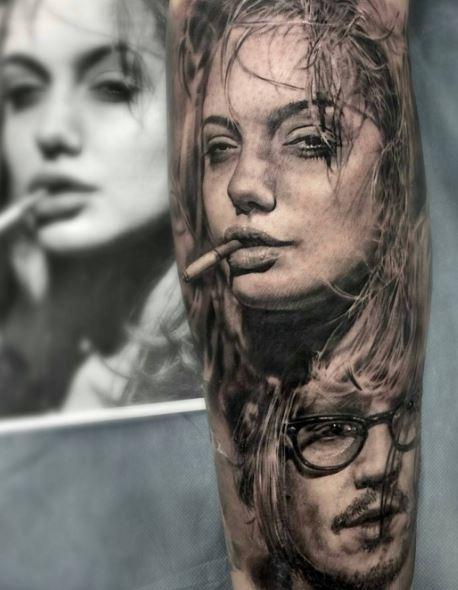 Realistic Tattoo On Arm 11