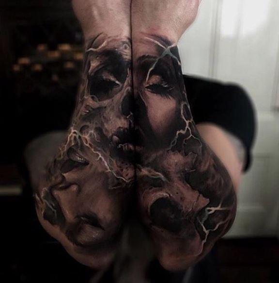 Realistic Tattoo On Arm 14
