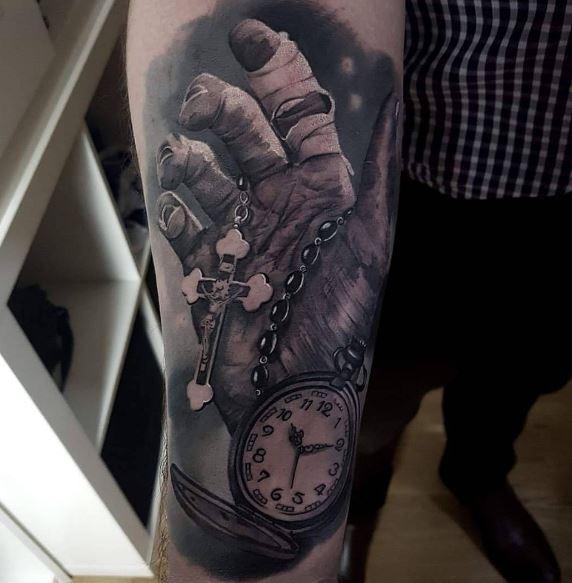 Realistic Tattoo On Arm 23