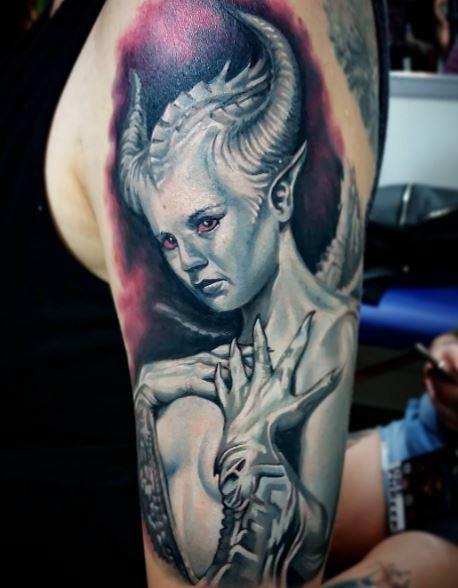 Realistic Tattoo On Arm 28