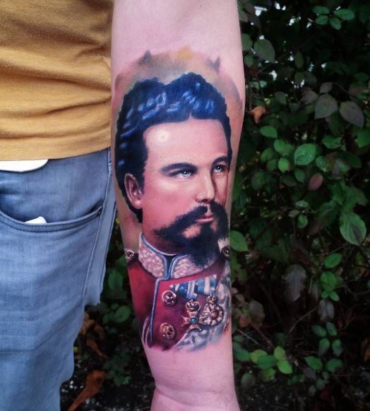 Realistic Tattoo On Arm 33