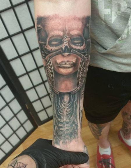Realistic Tattoo On Arm 38