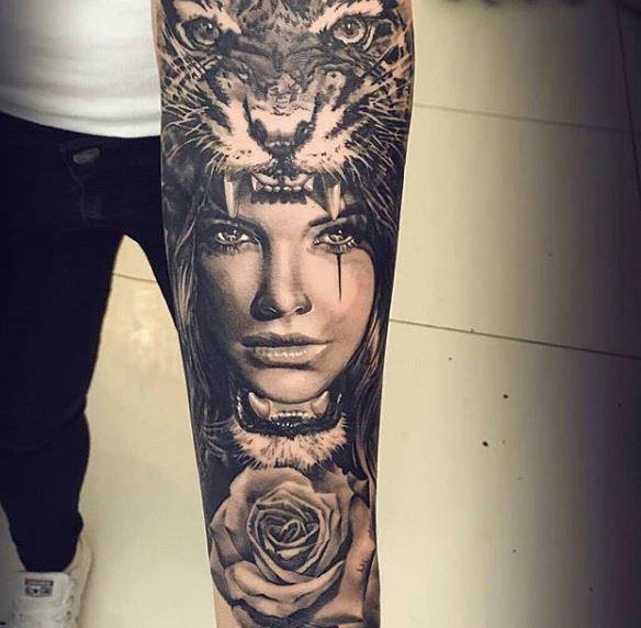 Realistic Tattoo On Arm 48