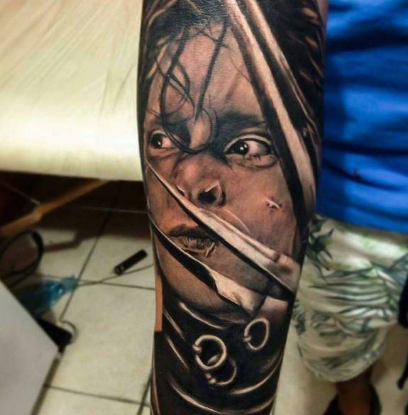 Realistic Tattoo On Arm 5