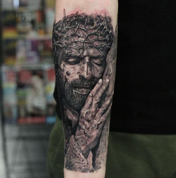 Realistic Tattoo On Arm 8