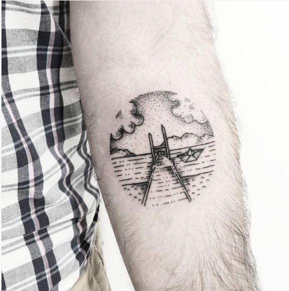 Sea Beach Tattoos Design On Hands