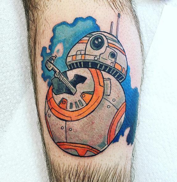 Star Wars BB 8 Robot Tattoos Design