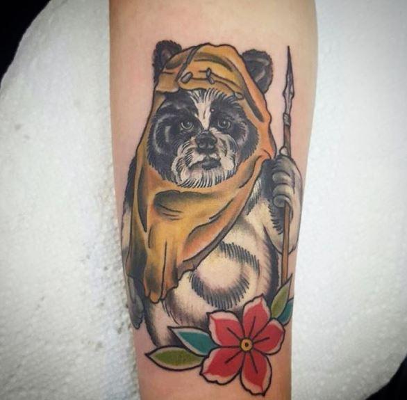 Star Wars Chewbacca Tattoos Design For Girls