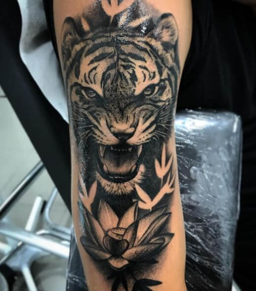 Tiger Tattoo On Arm 16