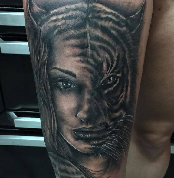 Tiger Tattoo On Arm 17