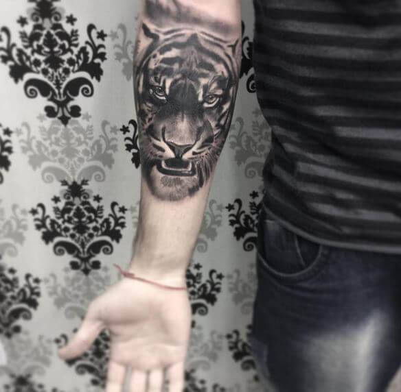Tiger Tattoo On Arm 31