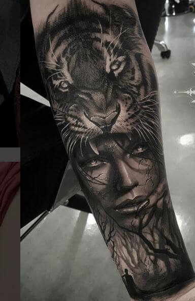 Tiger Tattoo On Arm 33