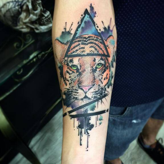 Tiger Tattoo On Arm 34