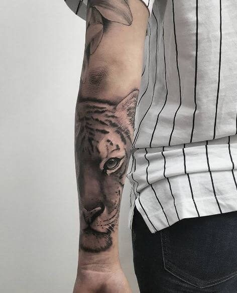 Tiger Tattoo On Arm 37