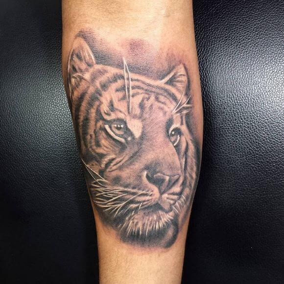 Tiger Tattoo On Arm 39