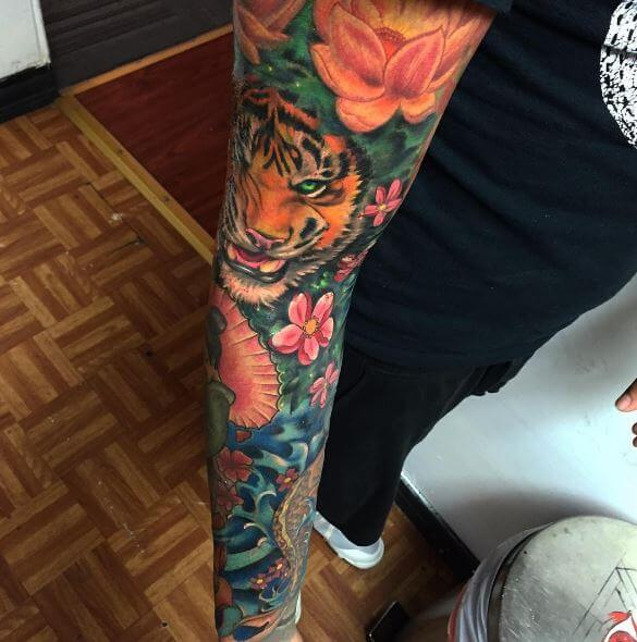Tiger Tattoo On Arm 42