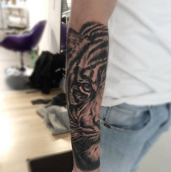 Tiger Tattoo On Arm 5