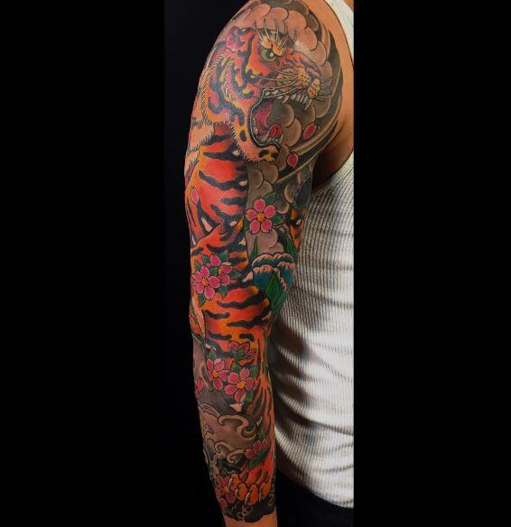 Tiger Tattoo On Arm 7
