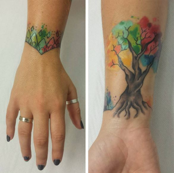 Tree Bracelet Tattoos Design And Ideas