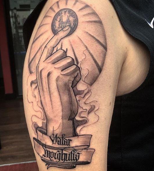 Valar Morghulis Tattoos Design On Biceps