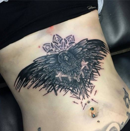 Valar Morghulis Tattoos Design On Stomach