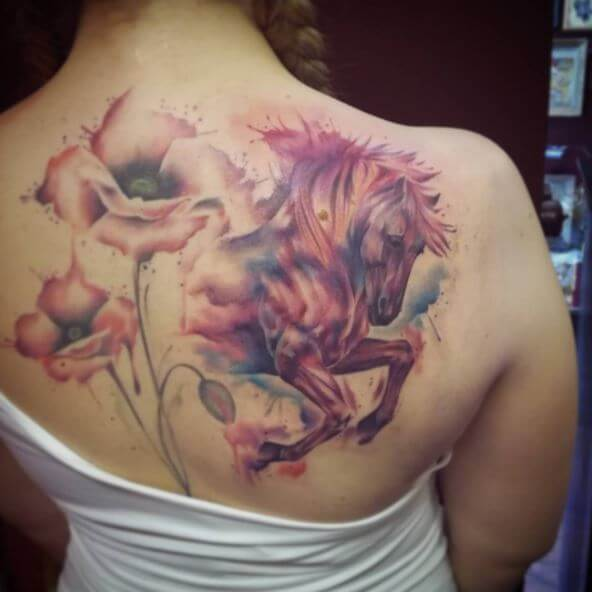 Watercolor Horse Tattoo Design And Ideas