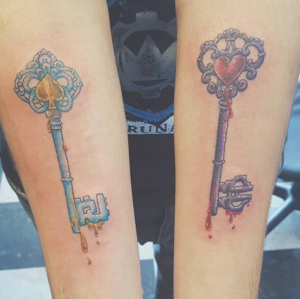 Alice In Wonderland Tattoos Key Designs