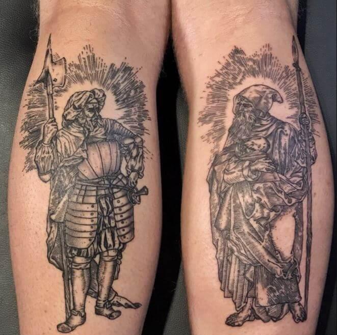 Amazing Calf Tattoos