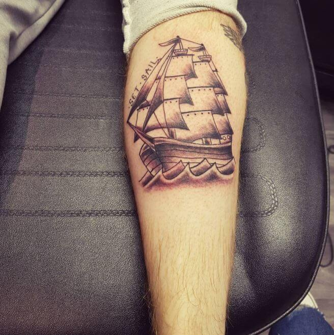 Back Of Calf Tattoos