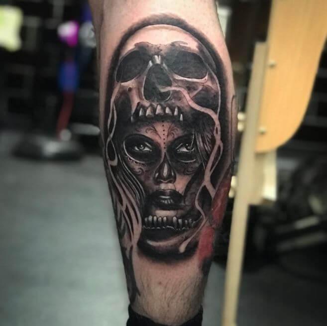 Badass Calf Tattoos
