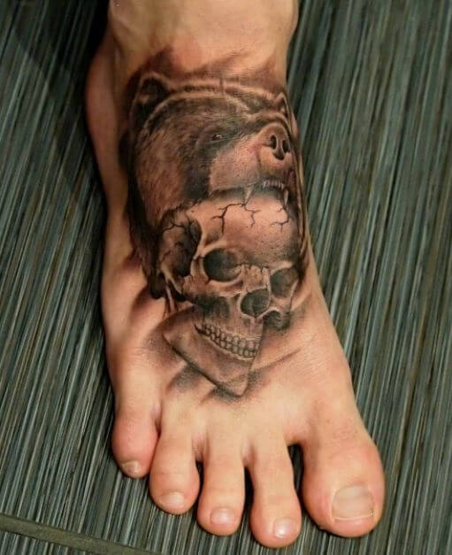 Bear Skull Tattoo